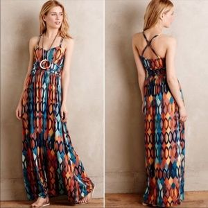 Anthropologie Maeve S multicolor maxi dress